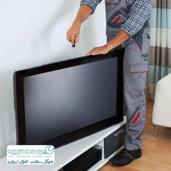 آموزش تعویض فلت تلویزیون ال جی