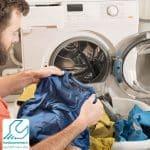 تمیز نشدن لباسها در ماشین لباسشویی